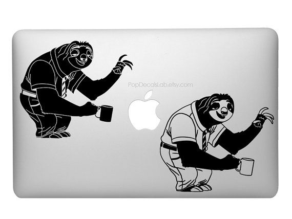 Sloth Flash vinyl decal Zootopia Sloth wall by PopDecalsLab