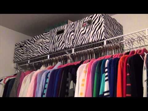 Organizing a Bedroom Closet on a Tight Budget (Home Staging or Home Decor) - YouTube