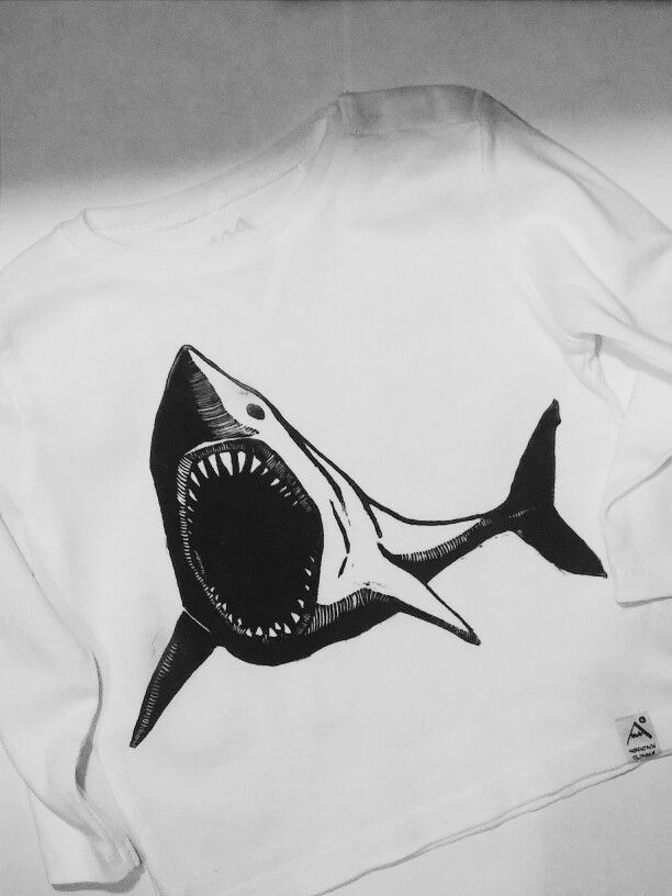 #shark #graphics #linocut #shirt
