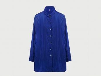 Oversize Bluse Royal Blau