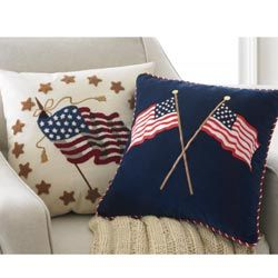 American Flag PillowsAmerican Splendor, Pillows Features, American Flags, July, 4Th Decor, Off Whit Pillows, Flags Pillows, America 4Th, Americana Patriots