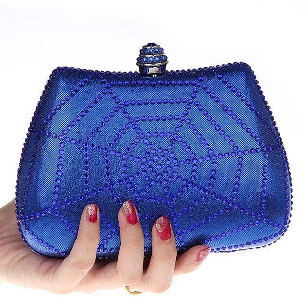 Marque nouvelle Lady Popular PU embrayage sac femmes toiles d'araignée perles sacs de soirée diamant bourse d'embrayage boulettes stéréotypes sac à main 1313(China (Mainland))