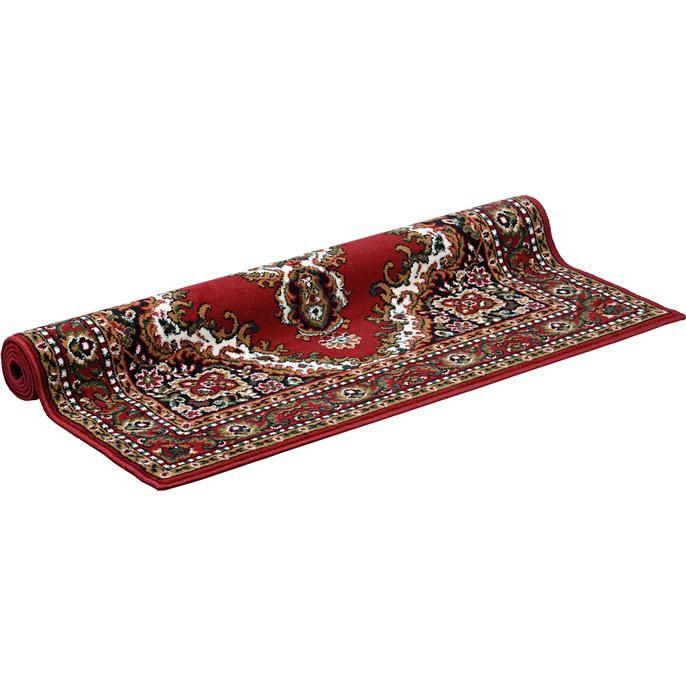 Leuk klassiek rood karpet genaamd Madaillon. Afmeting breedte 120cm en lengte 170cm. Verkrijgbaar in diverse afmetingen.