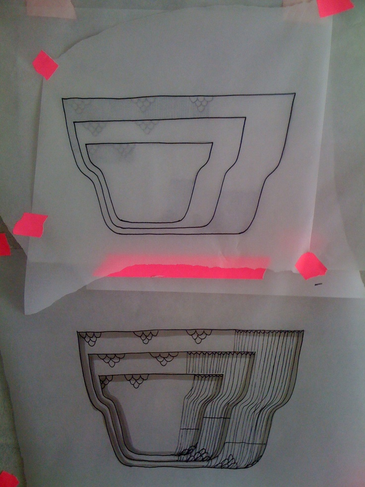 Early sketches of the new Elements bowls for Royal Copenhagen, Studio Louise Campbell