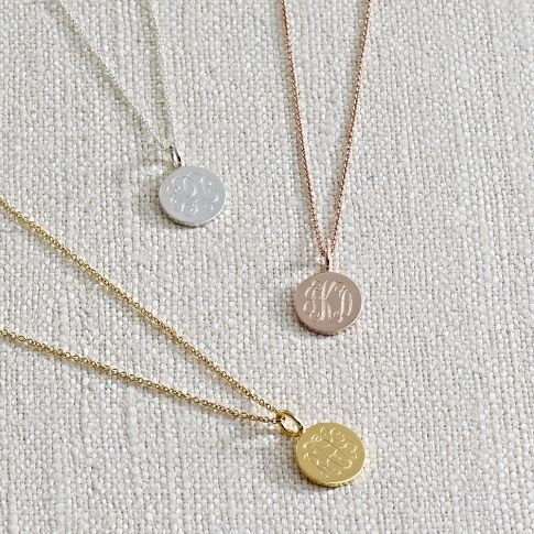 cute little monogrammed necklaces