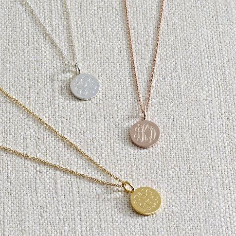 cute little monogrammed necklaces