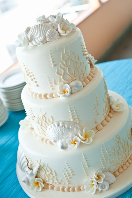 Concertina Press - Stationery and Invitations: 5 Seashell Beach Wedding Cakes Perfect for Oceanside Receptions