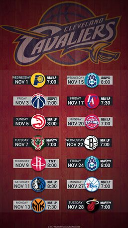 Cleveland Cavaliers 2017 Mobile Schedule Wallpaper