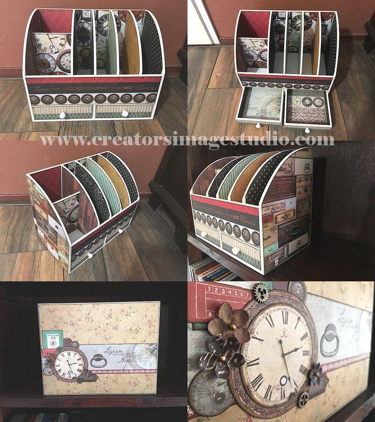 Antique Bazaar Altered Desk Organizer   Creator's Image Studio