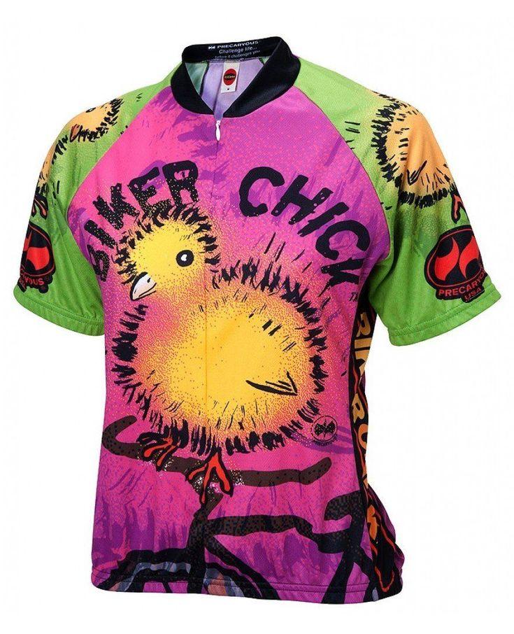 Biker Chick on a Bike Women's Cycling Jersey #women'scyclegear
