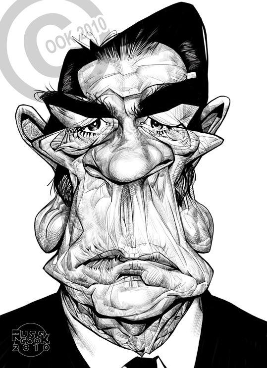 Caricaturas by Daniel Alho / Tommy Lee Jones