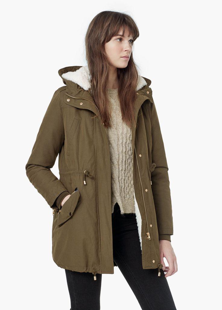 Long cotton coat -  Women | MANGO