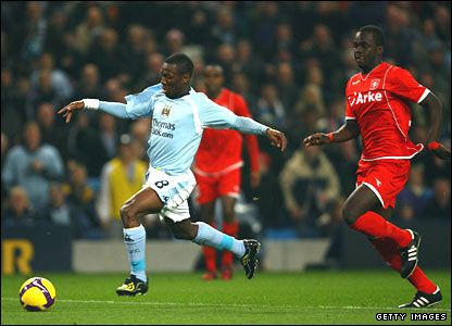 Man City 3 FC Twente 2 in Nov 2008 at Eastlands. Shaun Wright-Phillips scores after just 2 minutes. 1-0 City in the UEFA Cup 1st Round, group stage.