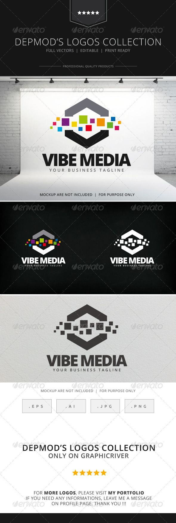 Vibe Media Logo 3226 best Abstract Logo
