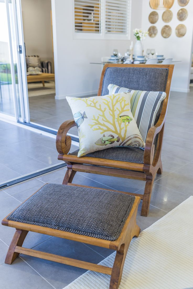 Two-piece outdoor #statement #chair from Asbuild's Denham Display Home