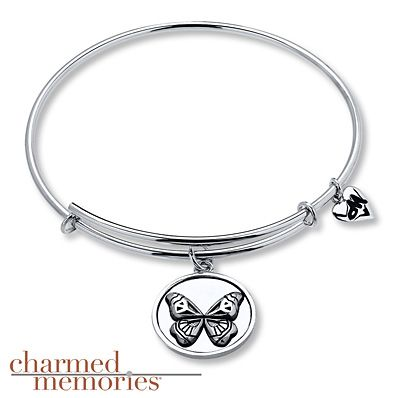 Charmed Memories Owl Bangle Bracelet Sterling Silver