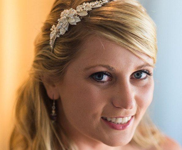 Pearls Flower Bridal Tiara Bridal Headband Bella Bridal