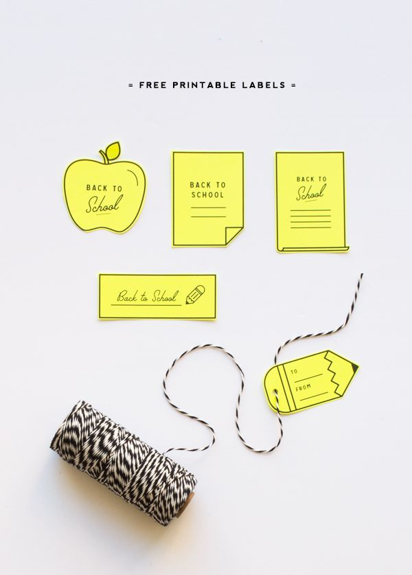 Back to School free printable labels | Oh Happy Day!