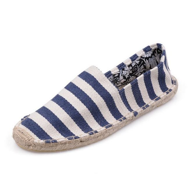 New Arrival Toms women shoes Hemp bottom big stripe blue