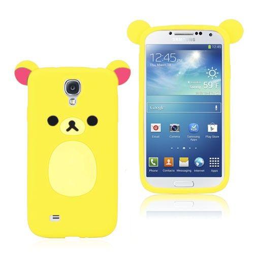 Cute Bear (Gul) Samsung Galaxy S4 Deksel