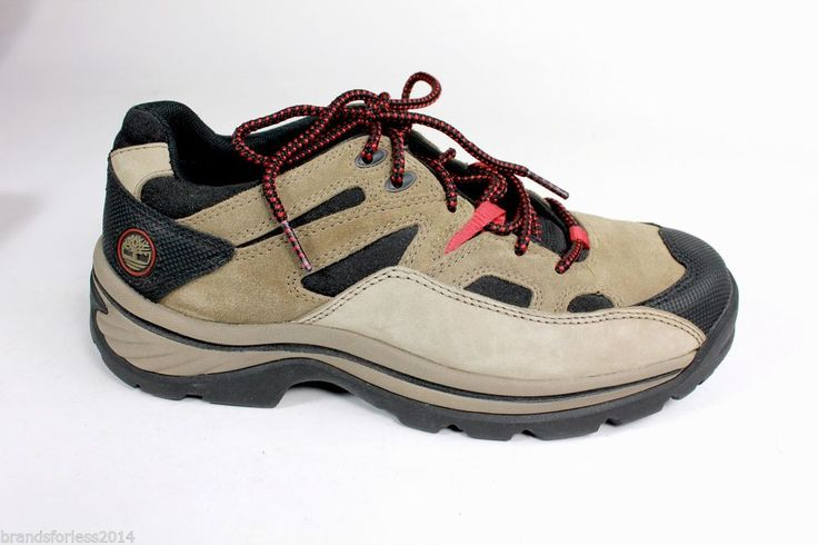 TIMBERLAND Gore-Tex Women's Hiking Trail Boots8.5 Medium Khaki Brown - EUC! #Timberland #HikingTrail