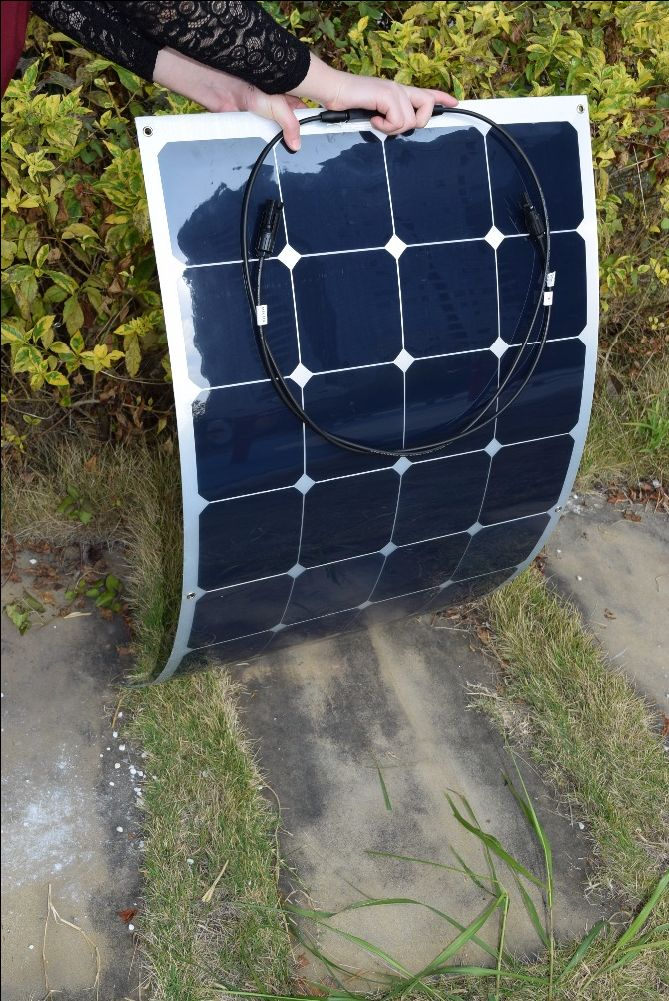 2PCS Solarparts 100W 12V Aluminium Board flexible solar panel solar module solar cell for RV/yacht/boat/camping /outdoor charger //Price: $US $227.34 & Up to 18% Cashback on Orders. //     #fashion