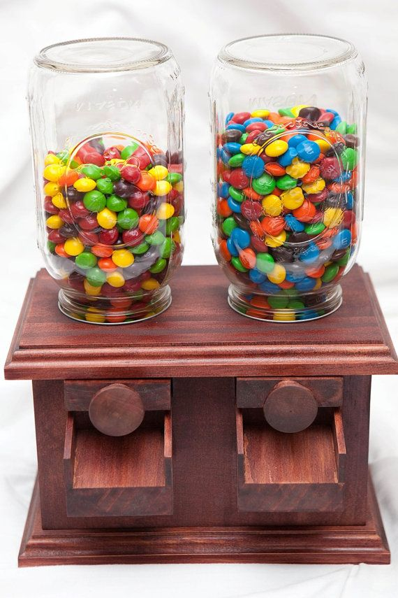 Handmade Double Wooden Candy Dispenser M By Daveswooddesigns
