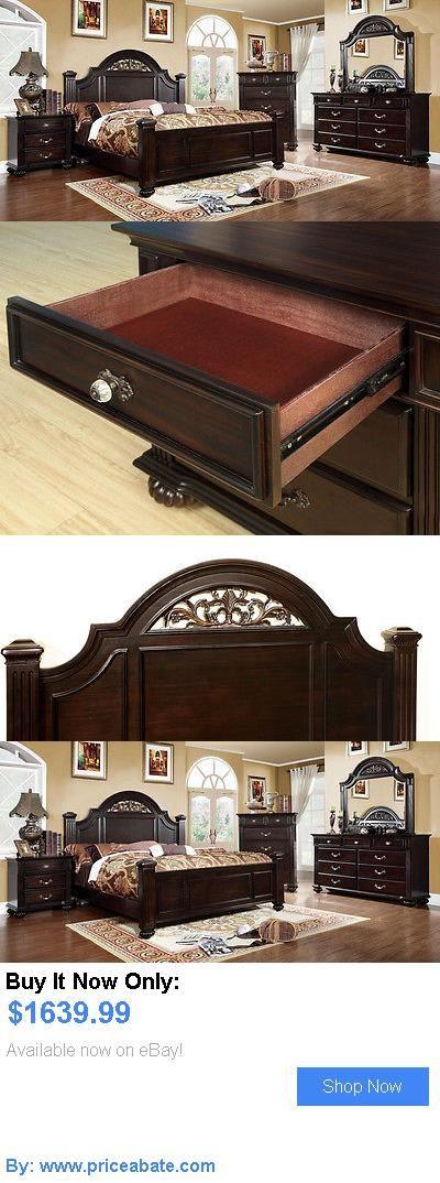 Bedding: Modern Bedroom Set Queen King Bed Size 4Pcs Home Furnitures Cm7129 BUY IT NOW ONLY: $1639.99 #priceabateBedding OR #priceabate