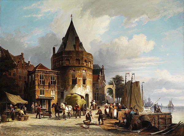 The Schreierstoren In Amsterdam Willem Koekkoek