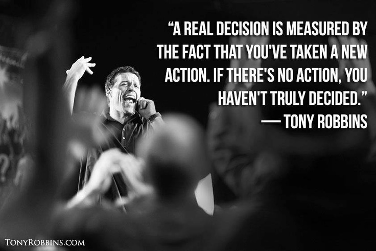 Make a Decision and ACT.  I will focus on eating better, trying a couple new things and not wasting my workouts!