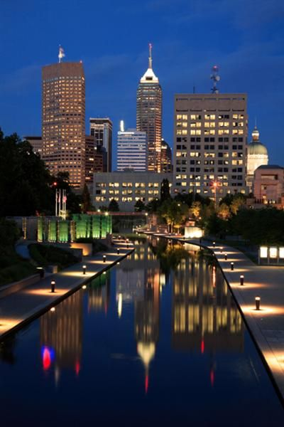 J W Marriott Indianapolis IN - gorgeous room, and fantastic concierge bar overlooking the city