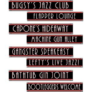 1920s Party Gangster Street Sign Cutouts