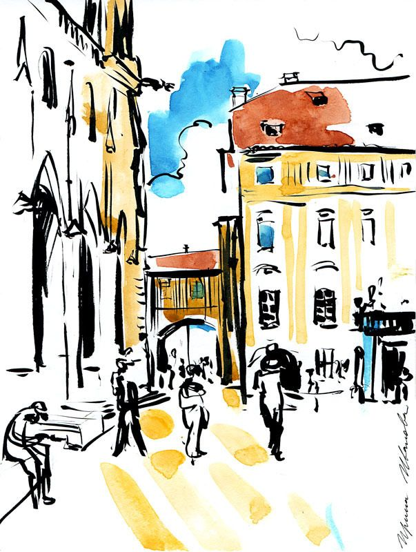 https://flic.kr/p/WwvbCp | 06-07-2017s | Sketch on the square in front of St. Vitus Cathedral, Prague Castle  #365sketches #watercolor #ink #sketching #pleinair #landscape #Praha #urbansketch #oldcity #travel #trip #voyage #tourist #Czech #artwork #architecture #Sight #зарисовки #пейзаж #Прага #Чехия #instaart #artinsta