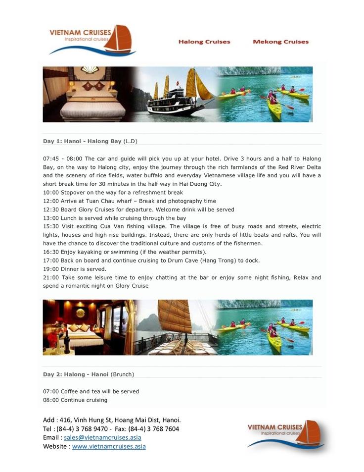 glory-cruise-02days by Vietnam Cruises via Slideshare