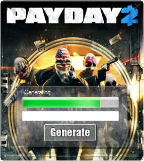 This is the keygen to the game Pay Day 2 today you can download absolutely free just to play the full version of the game. Have a lot of visitors who are looking for Pay Day 2 key generator is our place and you will be able to instantly download it with no survey.  http://wazzupgames.com/pay-day-2-keygen/