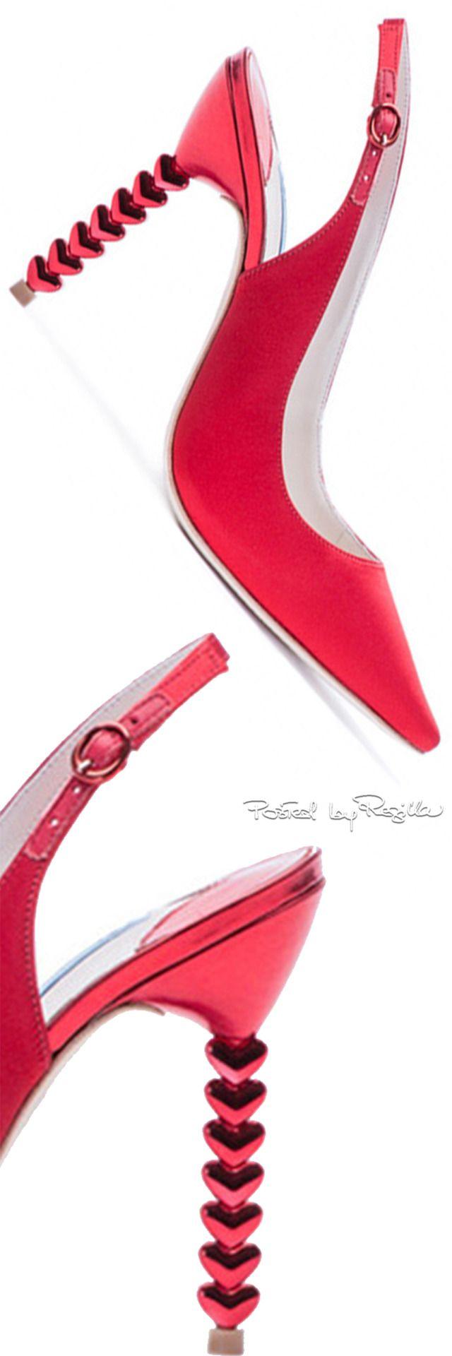 Sophia Webster ~ Tyra Heart Heels, Cherry Red, 2015