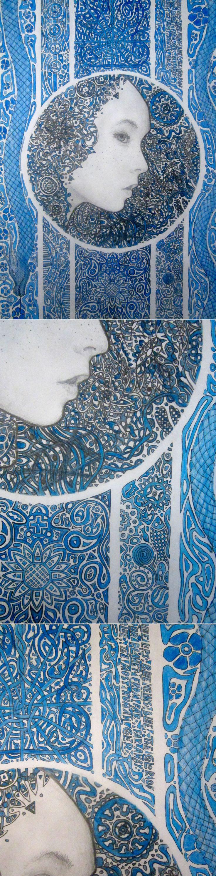 Blue lips,blue veins.