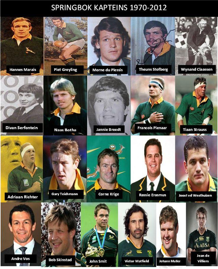 Springboks/ Kaptein/ Captains/ Bokke/ Rugby/memories/ Naas Botha