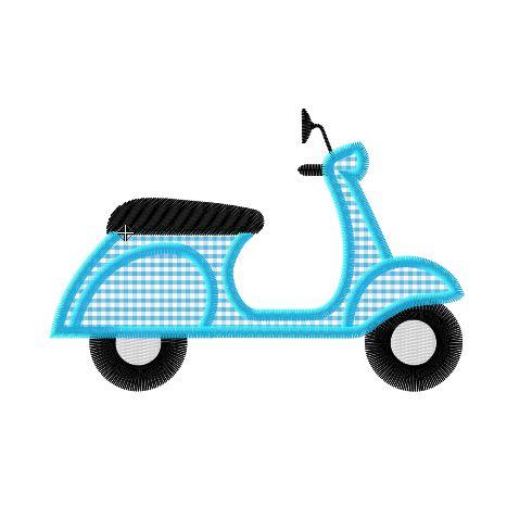 Motif de broderie machine scooter