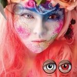 Lenti a contatto colorate PLANO Crazy Lens. 2 lenti COSPLAY