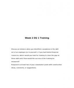 MGT460  MGT 460  Week 2 DQ 1 Training --> http://www.scribd.com/doc/129219757/MGT460-MGT-460-Week-2-DQ-1-Training