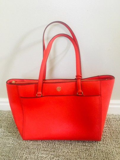 0a4caac24f6 Tory Burch Robinson Red Leather Tote. Get one of the hottest styles of the  season
