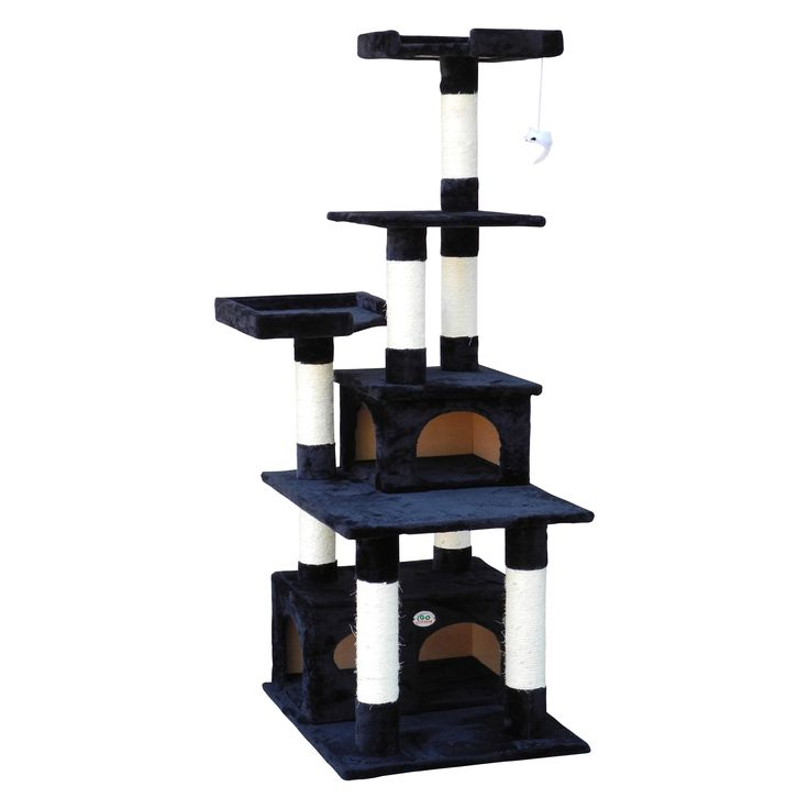 Go Pet Club Cat Tree Condo Scratcher Post Pet Bed Furniture   from hayneedle.com