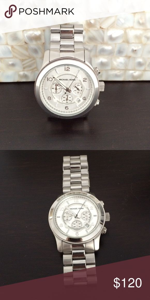 Michael Kors men's style silver watch Michael Kors men's style watch. Silver wth no marks or scratches! Michael Kors Accessories Watches