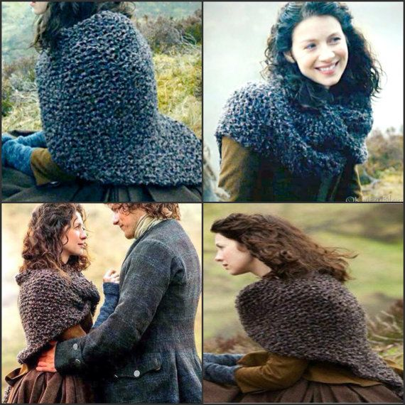 Claire's Shawl PDF Pattern Claire's Shaulette Inspired Sassenach Knitting Pattern PDF File Is not a finished product