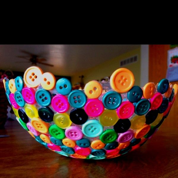 Button Bowl! Now I know what to do with all of those extra buttons that come with clothes