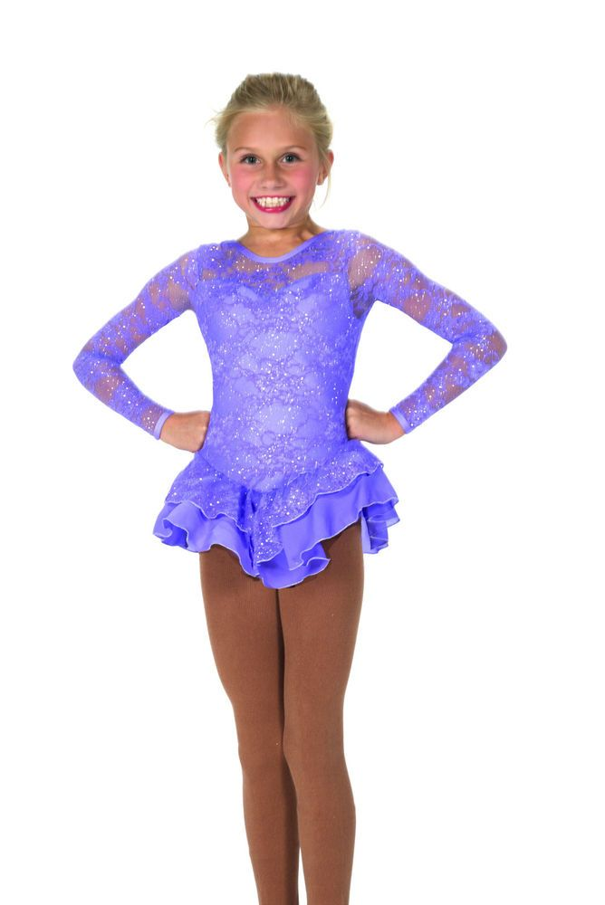 New Jerrys Competition Skating Dress 33 Love & Lace Crocus Purple Made on Order | eBay