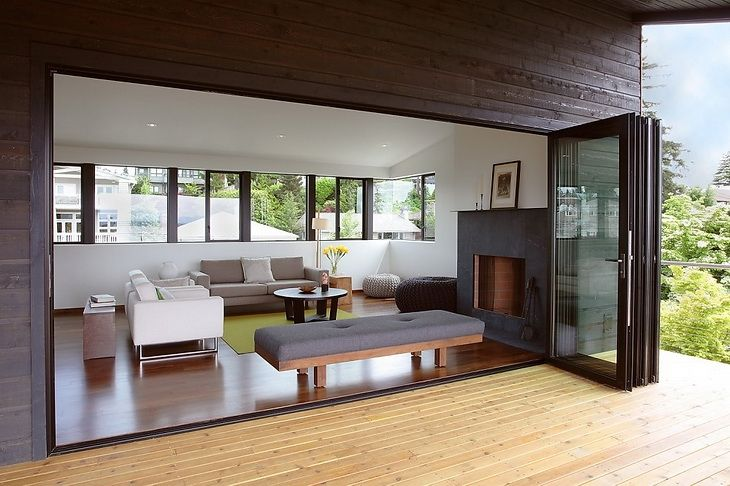 "I""ve always liked the idea of a collapsing wall, where the line between indoor and outdoor blurs"