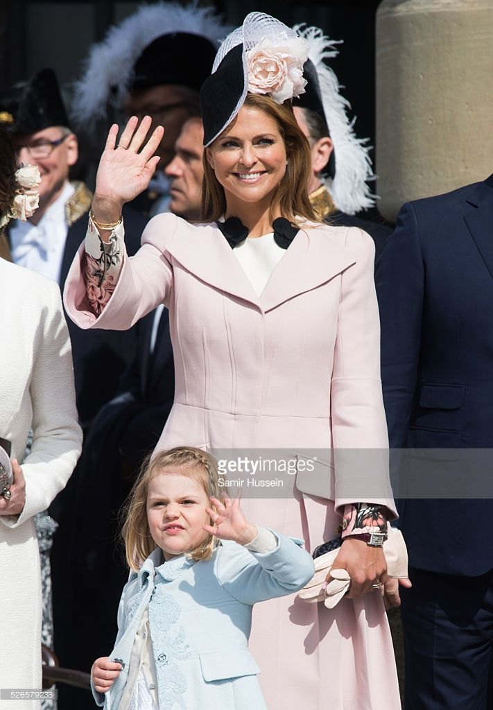 Princess Estelle of Sweden and Princess Madeleine of Sweden attend the celebrations of the Swedish Armed Forces for the 70th birthday of King Carl Gustaf of Sweden on April 30, 2016 in Stockholm, Sweden.