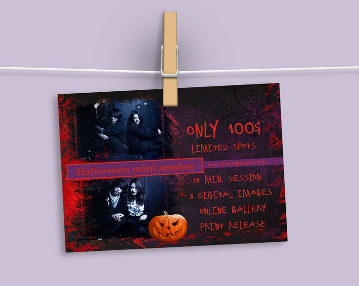 Halloween mini session template 4